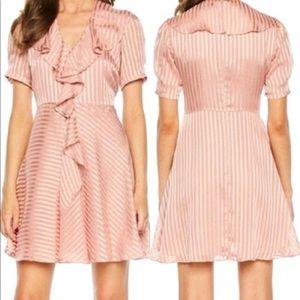 Bardot Pink Frill Ruffle Dress